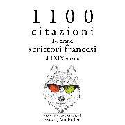 Cover-Bild zu 1100 citazioni dei grandi scrittori francesi del XIX secolo (Audio Download) von Flaubert, Gustave