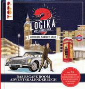Cover-Bild zu Logika Adventskalenderbuch - London Agency 1960: Mit 24 illustrierten Logikrätsel durch den Advent