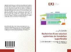Cover-Bild zu Justin, Akili Mponjo: Recherche d'une solution optimisée de fondation superficielle