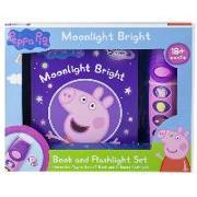 Cover-Bild zu Pi Kids: Peppa Pig Moonlight Bright: Book and Flashlight Set [With Flashlight]