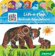 Cover-Bild zu Pi Kids: World of Eric Carle: Animals Everywhere!: Lift-A-Flap Look and Find