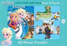 Cover-Bild zu Pi Kids: Disney Frozen: Little First Look and Find Book & Puzzle