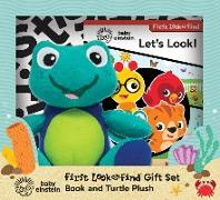 Cover-Bild zu Pi Kids: Baby Einstein: First Look and Find Gift Set: Book and Turtle Plush