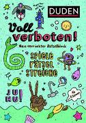 Cover-Bild zu Voll verboten! Mein verrückter Rätselblock 1 - Ab 8 Jahren von Dudenredaktion