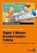 Cover-Bild zu Tägl. 5 Min. Grundwortschatz-Training - 1./2. Kl (eBook) von Jebautzke, Kirstin