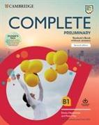 Cover-Bild zu Complete Preliminary Student's Book Pack (SB wo Answers w Online Practice and WB wo Answers w Audio Download) von May, Peter