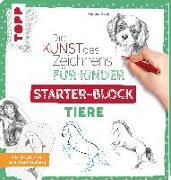 Cover-Bild zu Die Kunst des Zeichnens für Kinder Starter-Block - Tiere von Keck, Gecko