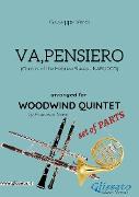 Cover-Bild zu Va, pensiero - Woodwind Quintet set of PARTS (eBook) von Verdi, Giuseppe