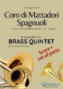 Cover-Bild zu Coro di Mattadori Spagnuoli - Brass Quintet score & parts (eBook) von Verdi, Giuseppe