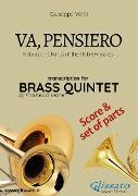 Cover-Bild zu Va, pensiero - Brass Quintet score & parts (eBook) von Verdi, Giuseppe