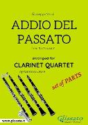 Cover-Bild zu Addio del Passato - Clarinet Quartet set of PARTS (eBook) von Verdi, Giuseppe
