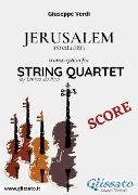 Cover-Bild zu Jerusalem (introduction) String Quartet - Score (eBook) von Verdi, Giuseppe