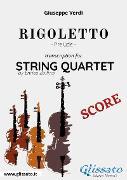 Cover-Bild zu Rigoletto (prelude) String quartet - Score (eBook) von Verdi, Giuseppe