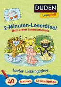 Cover-Bild zu Duden Leseprofi - 2-Minuten-Leserätsel: Mein erster Lesewortschatz. Lauter Lieblingstiere von Holzwarth-Raether, Ulrike