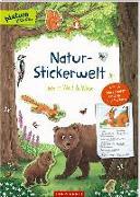 Cover-Bild zu Natur-Stickerwelt: Tiere in Wald und Wiese von Warnecke, Ruby Anna (Illustr.)