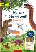 Cover-Bild zu Natur-Stickerwelt - Dinosaurier & Co von Warnecke, Ruby Anna (Illustr.)