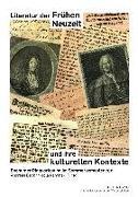 Cover-Bild zu Literatur der Fruehen Neuzeit und ihre kulturellen Kontexte (eBook) von Beck, Andreas (Hrsg.)