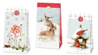 Cover-Bild zu 24 Adventskalender-Tüten - Weihnachtszauber mit Marjolein Bastin von Bastin, Marjolein (Illustr.)