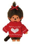 Cover-Bild zu MONCHHICHI Sweater Red Heart Girl 20cm