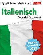 Cover-Bild zu Sprachkalender Italienisch Kalender 2022 von Stillo, Tiziana