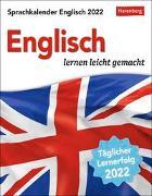Cover-Bild zu Sprachkalender Englisch Kalender 2022 von Gallagher, Jennifer