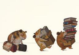 Cover-Bild zu Bücherhamster ziehen um Postkarten VE 10