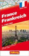 Cover-Bild zu Frankreich Strassenkarte 1:1 Mio. 1:1'000'000 von Hallwag Kümmerly+Frey AG (Hrsg.)