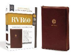 Cover-Bild zu RVR 1960- Reina Valera 1960,: RVR60 Santa Biblia Letra Supergigante, Leathersoft, Café c/Cierre