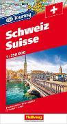 Schweiz CH-Touring Strassenatlas 1:250 000. 1:250'000 von Hallwag Kümmerly+Frey AG (Hrsg.)