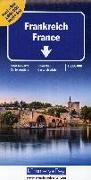 Frankreich Nord+Süd Strassenkarte 1:600 000. 1:600'000 von Hallwag Kümmerly+Frey AG (Hrsg.)