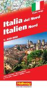 Italien Nord Strassenkarte 1:650 000. 1:650'000 von Hallwag Kümmerly+Frey AG (Hrsg.)