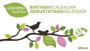 Blätter immerwährender Geburtagskalender von teNeues Calendars & Stationery GmbH & Co. KG