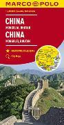 MARCO POLO Kontinentalkarte China, Mongolei, Bhutan 1:4 000 000. 1:4'000'000