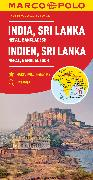 MARCO POLO Kontinentalkarte Indien, Sri Lanka 1:2 500 000. 1:2'500'000
