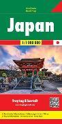Japan, Autokarte 1:1 Mio. 1:1'000'000 von Freytag-Berndt und Artaria KG (Hrsg.)
