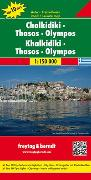 Chalkidiki - Thasos - Olympos, Autokarte 1:150.000. 1:150'000 von Freytag-Berndt und Artaria KG (Hrsg.)