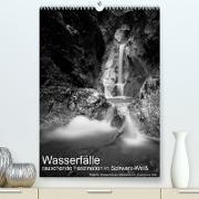 Cover-Bild zu Wasserfälle - rauschende Faszination in Schwarz-Weiß (Premium, hochwertiger DIN A2 Wandkalender 2022, Kunstdruck in Hochglanz) von Aigner, Matthias