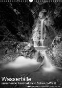 Cover-Bild zu Wasserfälle - rauschende Faszination in Schwarz-Weiß (Wandkalender 2022 DIN A3 hoch) von Aigner, Matthias