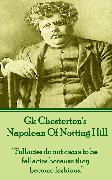 Cover-Bild zu Chesterton, G.K.: Napolean Of Notting Hill (eBook)