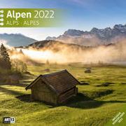 Alpen Kalender 2022 - 30x30 von Ackermann Kunstverlag (Hrsg.)