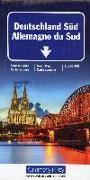 Deutschland Süd Strassenkarte. 1:500'000 von Hallwag Kümmerly+Frey AG (Hrsg.)