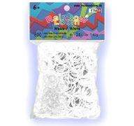 Rainbow Loom Gummibänder Weiss Opaque