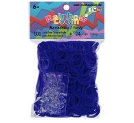 Rainbow Loom Gummibänder Marineblau Opaque