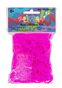 Rainbow Loom Silikonbänder Neon pink