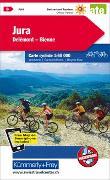 Cover-Bild zu Jura Delémont Biel-Bienne Nr. 03 Velokarte 1:60 000. 1:60'000 von Hallwag Kümmerly+Frey AG (Hrsg.)