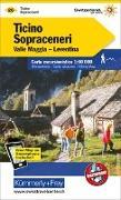 Cover-Bild zu Tessin Sopraceneri, Valle Maggia, Leventina Wanderkarte Nr. 26. 1:60'000 von Hallwag Kümmerly+Frey AG (Hrsg.)