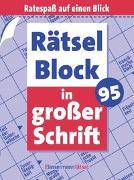 Cover-Bild zu Rätselblock in großer Schrift 95 (5 Exemplare à 2,99 ?) von Krüger, Eberhard