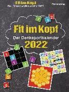 Cover-Bild zu Fit im Kopf - der Denksport-Kalender 2022. Jeden Tag Gehirnjogging mit dem beliebten Abreißkalender von Krüger, Eberhard