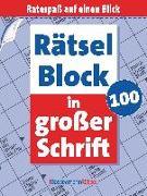 Cover-Bild zu Rätselblock in großer Schrift 100 (5 Exemplare à 2,99 ?) von Krüger, Eberhard
