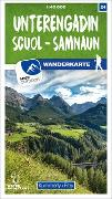 Cover-Bild zu Unterengadin / Scuol - Samnaun 24 Wanderkarte 1:40 000 matt laminiert. 1:40'000 von Hallwag Kümmerly+Frey AG (Hrsg.)